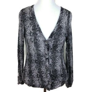 French Laundry Womens LS Cardigan Size L
